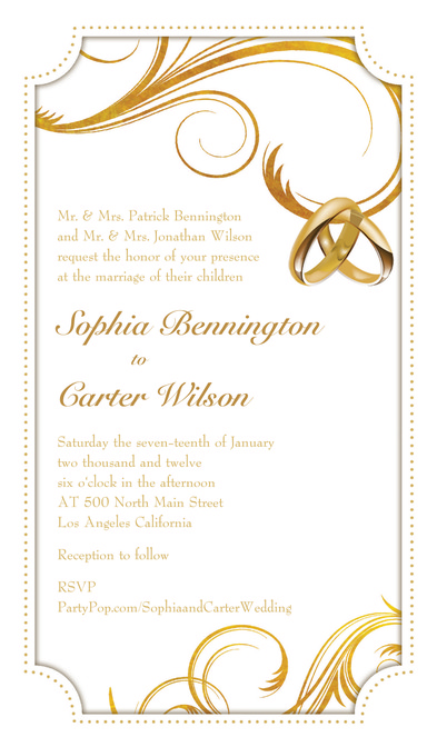 not expensive zsolt wedding rings: wedding ring invitation templates, Wedding invitations